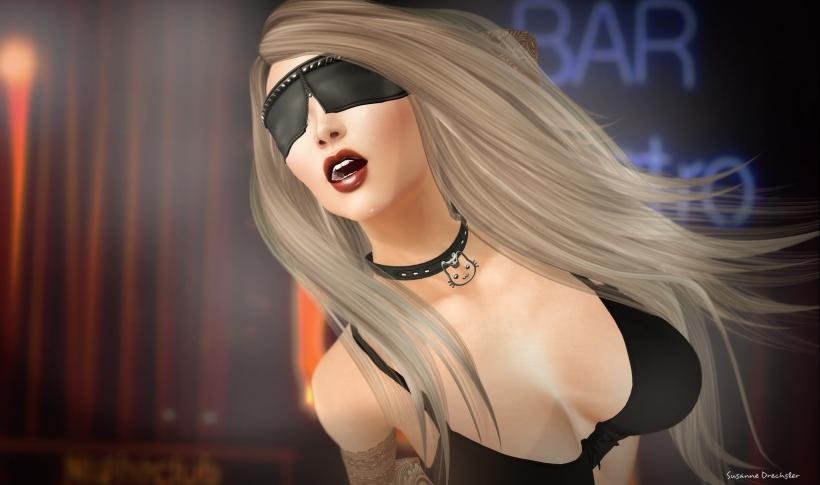 Meva - Blindfold Black @ Whore Fair; DATUM - Neko Collar